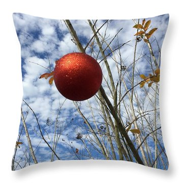Throw Pillow featuring the photograph December by Jean Marie Maggi