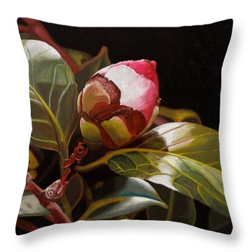 December Rose Throw Pillow