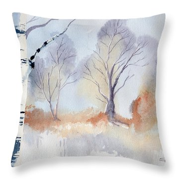 December Throw Pillow