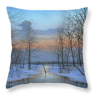 December Solitude Throw Pillow