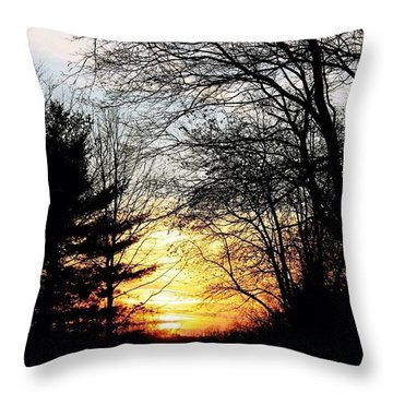 December Sundown Throw Pillow