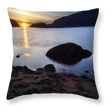 Deception Pass 3 Throw Pillow by Sonya Lang