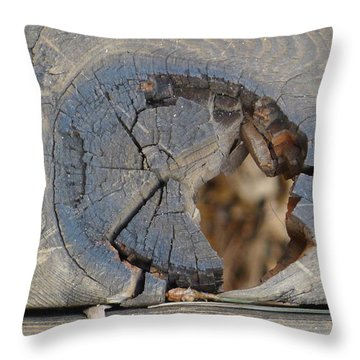 Throw Pillow featuring the photograph Deck by Nora Boghossian