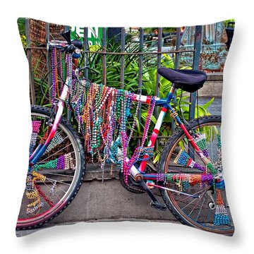 Decked Out Throw Pillow by Steve Harrington