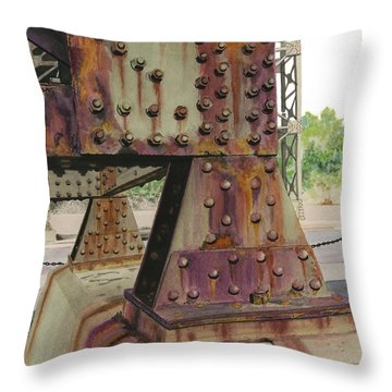 Declining Infrastructure Throw Pillow