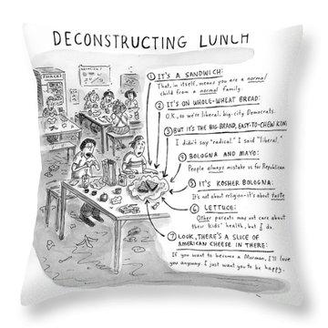 Deconstructing Lunch Throw Pillow