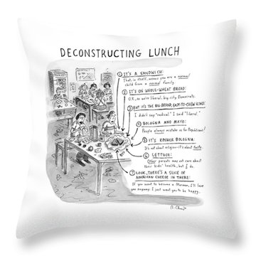 Deconstructing Lunch Throw Pillow