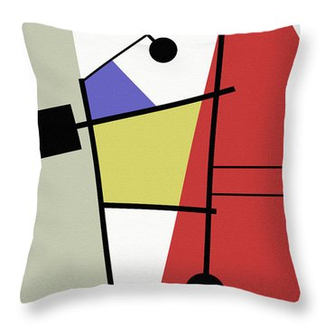 Deconstruction Throw Pillow by Richard Rizzo