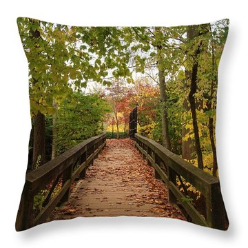 Decorate With Leaves - Holmdel Park Throw Pillow
