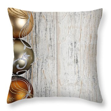 Decorated Christmas Ornaments Throw Pillow by Elena Elisseeva