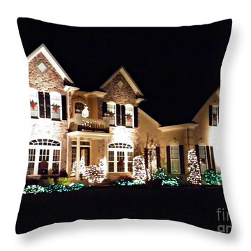 Decorated For Christmas Throw Pillow by Sarah Loft