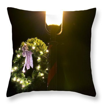 Decorating For Christmas Throw Pillow by Kenneth Albin