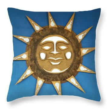 Decorative Sun Throw Pillow