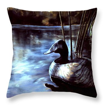 Decoy At Tealwood Throw Pillow