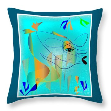 Deeep Below Throw Pillow by Iris Gelbart
