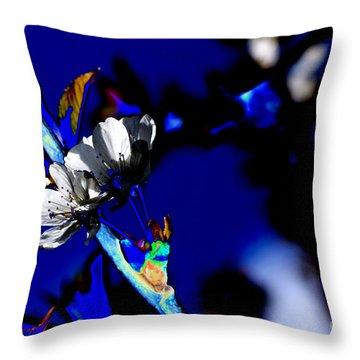 Deep Blue Throw Pillow by Carol Lynch