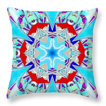 Deep Blue Geometry Throw Pillow