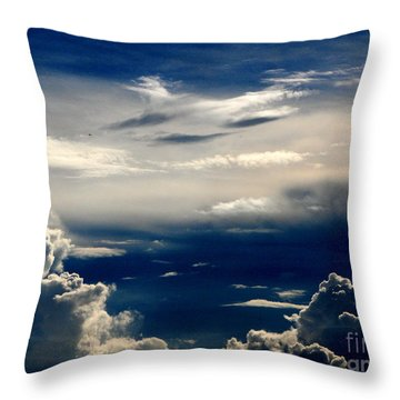 Deep Blue Throw Pillow by Greg Patzer