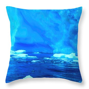 Throw Pillow featuring the photograph Deep Blue Iceberg by Amanda Stadther