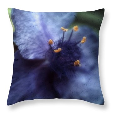 Deep Blue Throw Pillow by Louise Kumpf
