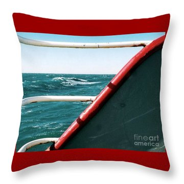 Throw Pillow featuring the photograph Deep Blue Sea Of The Gulf Of Mexico Off The Coast Of Louisiana Louisiana by Michael Hoard