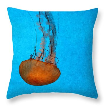 Deep Blue Throw Pillow by Shari Nees