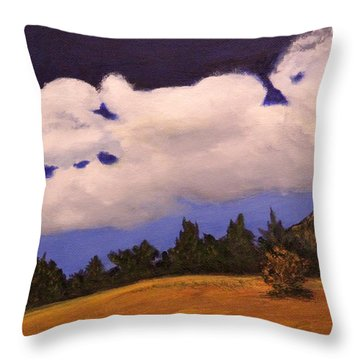 Deep Blue Sky Throw Pillow