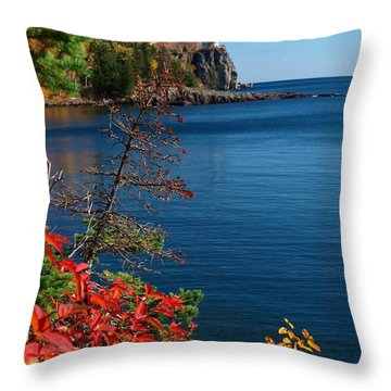 Deep Blue Superior Throw Pillow by James Peterson