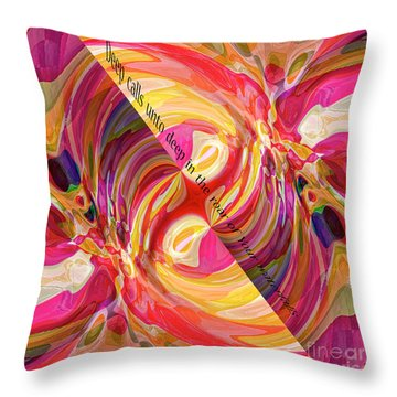 Throw Pillow featuring the digital art Deep Calls Unto Deep by Margie Chapman