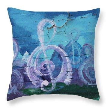 Deep Ellum Means Music Throw Pillow by Lorri Crossno