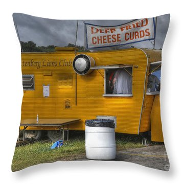 Throw Pillow featuring the photograph Deep Fried Cheese Curds by Trey Foerster
