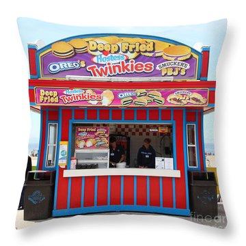 Deep Fried Hostess Twinkies At The Santa Cruz Beach Boardwalk California 5d23689 Throw Pillow