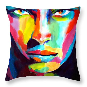 Deep Gaze Throw Pillow