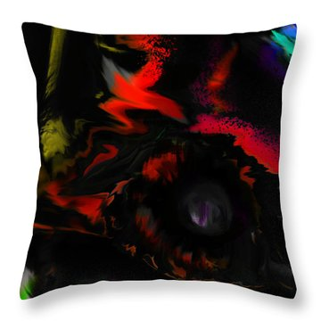 Throw Pillow featuring the digital art Deep Impact by Martina  Rathgens