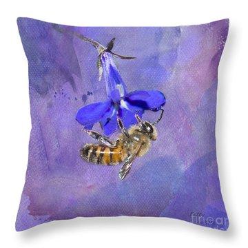 Deep In Purple Throw Pillow by Betty LaRue