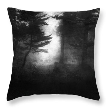 Deep In The Dark Woods Throw Pillow by Theresa Tahara