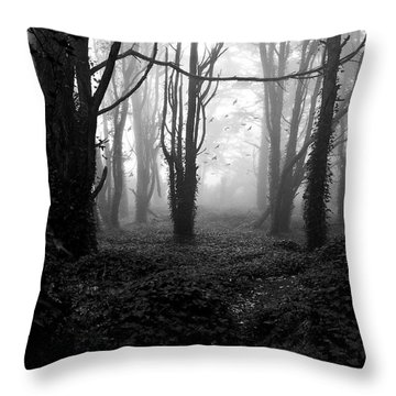 Deep In The Florest Throw Pillow by Jorge Maia