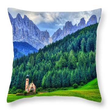 Deep In The Mountains Throw Pillow by Midori Chan