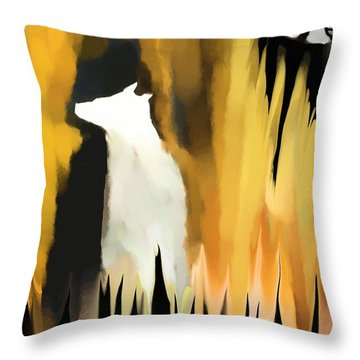 Deep In The Shadows Throw Pillow by Hilda Lechuga