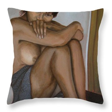 Deep In Thought Throw Pillow by Thu Nguyen