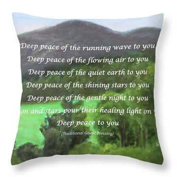 Deep Peace With Ct River Valley Throw Pillow