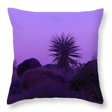 Deep Purple Throw Pillow