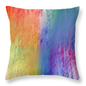 Deep Rich Sherbet Abstract Throw Pillow by Andee Design