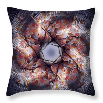 Deep Sea Creature Throw Pillow by Anastasiya Malakhova