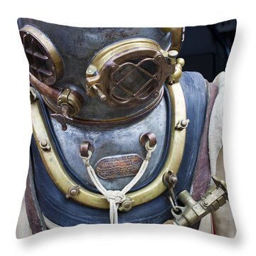 Deep Sea Diving Gear Throw Pillow