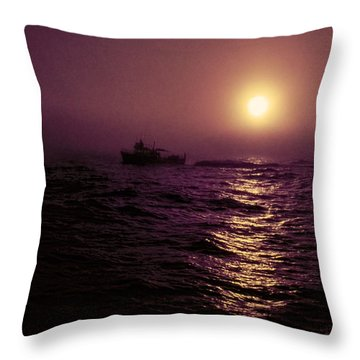 Deep Sea Fishing Off West Port Wa II Throw Pillow