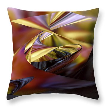 Deep Sea Mirage Throw Pillow