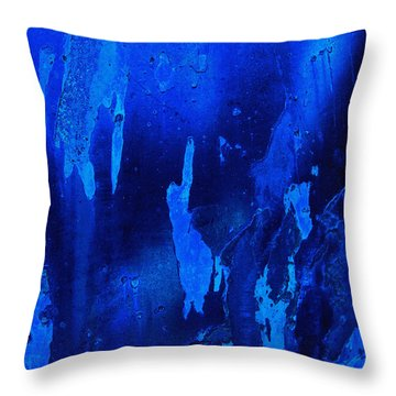 Deep Space Blue Abstract Throw Pillow
