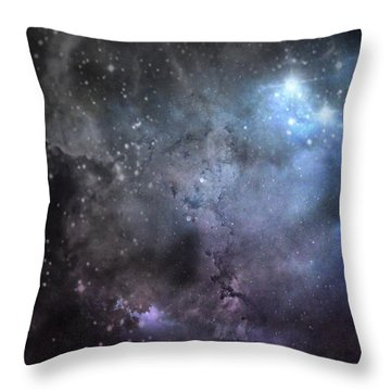 Deep Space Throw Pillow by Cynthia Lassiter