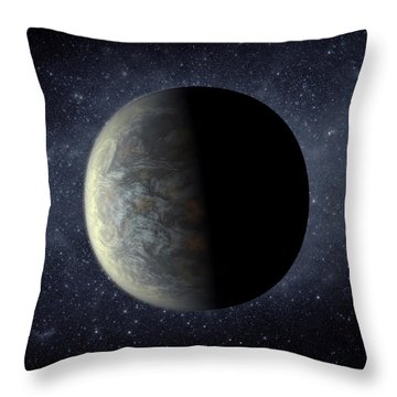 Deep Space Planet Kepler-20f Throw Pillow by Movie Poster Prints